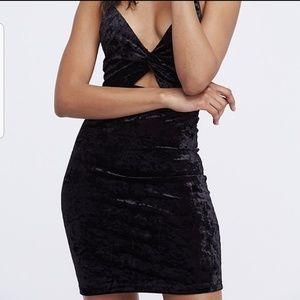 Free People Dresses - NEW Free People Velvet Cutout Bodcon Dress
